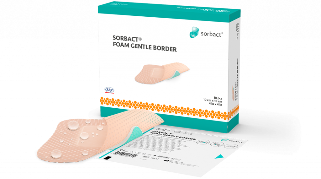 Sorbact Foa Gentle Border single product with primary and secondary product packaging